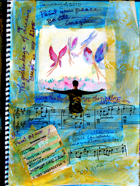 Page from Ann Bell's Visual Journal